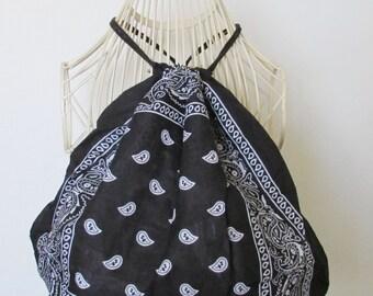 Black Bandana backpack