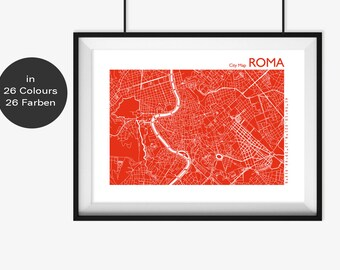 ROME Map, ROME Travel Map, Rome Art, Rome Street Map, Rome Print, Rome Wall Art, Custom City Map, Office Decor, Rome Gift, hygge at home