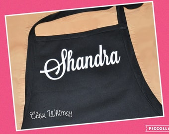 Personalized apron, Custom name apron with pockets, Monogrammed Apron, Chef Apron, Personalized Gift