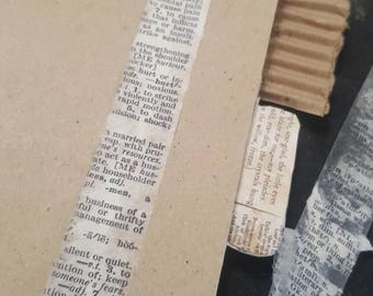 Vintage Dictionary Washi diy Tape