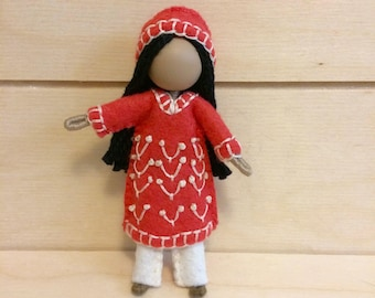 Dani - Miniature doll - Bendy doll - Faceless doll - Dollhouse doll - Pocket doll - Waldorf doll - Montessori toy