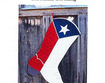 Texas Boot Christmas Stocking- Pattern only