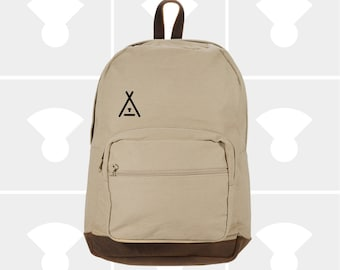 Tent - Leather Bottom Laptop Backpack