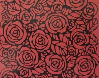 Roses Embossed Blank Note Cards, Embossed Blank Cards, Embossed Blank Greeting Cards Set of 10