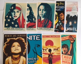 Women's March (10 pc)  WE the PEOPLE poster collection HISTORIC posters