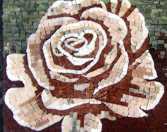The Rosa Flower Mosaic Accent