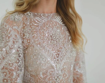 Alexandria - Crystal Hand Embellished Tulle Wedding Gown