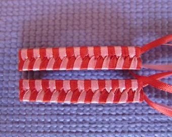 Handmade Satin Ribbon Bar Barrettes