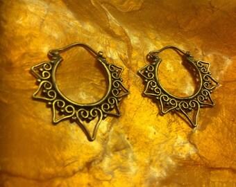 Heart lace earrings