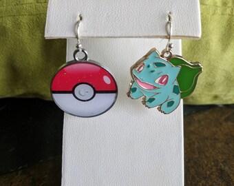 Pokemon dangle earrings Bulbasaur