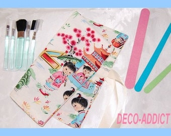 Makeup bag or pencil Chinese children theme