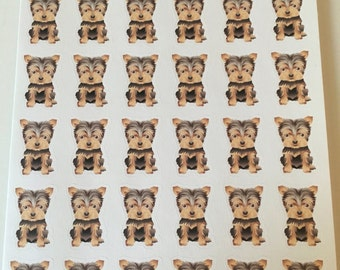 Yorkie Stickers For Erin Condren Life Planner Happy Planner Plum Paper