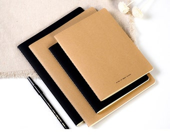 Set of  2,Kraft paper cover Sketchbook,Kraft paper notebook,exercise book