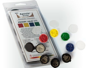 PRIMARY COLOR Kit includes: 4 Colors of  Apoxie Sculpt -  DIY, Snap Jewelry, Aves, Apoxie Sculpt, Clay Snaps, Found Objects, Steampunk