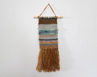 Striped woven wall hanging, woven wall art, woven wall hanging, hand woven tapestry, tapestry,tapestry weaving, home décor,striped weavin