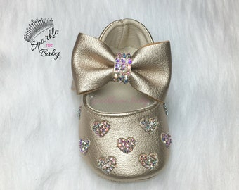 Bling Baby Shoes - Babygirl Shoes - Fancy Baby Shoes - Babyshower Present - Sunday Shoes - Crystal Baby Shoes - Sparkly - SparkleMeBaby2u