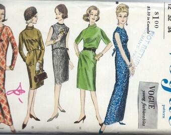 UNCUT Vintage 1960's Dress Sewing Pattern Vogue 5748
