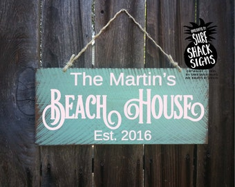 personalized beach signs, personalized beach house signs, beach, beach decor, beach house sign, beach house decor, beach house gift