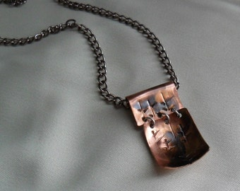 Necklace 2 Piece Copper Pendant with Chain