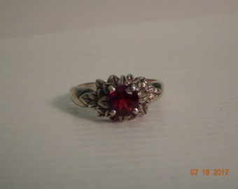 Sterling Silver and Garnet Colored Stone by Kabana - size 9