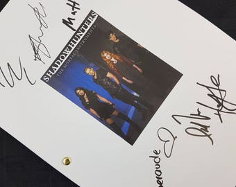 Shadowhunters TV Show Script with Signatures / Autographs Reprint Unique Gift  Screenplay Present Film Movie Fan Geek Mortal Instruments