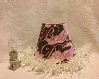 Night Light, Embroidered 'Baby Diva'.