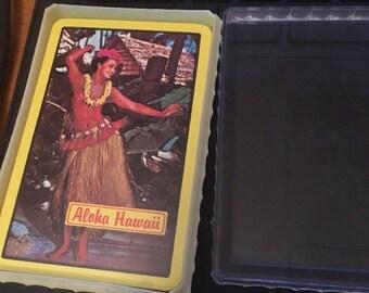 Aloha Hawaii Playing Cards Hula Girl New w/plastic case