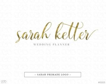 Premade Logo, Calligraphy Logo, Photography Logo, Handwritten Logo, Business Logo, Gold Logo, Feminine Logo, Watermark - #0005