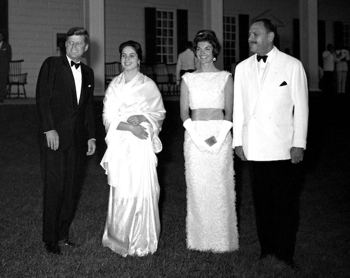 John F Kennedy & First Lady Jacqueline Host State Dinner in Mount Vernon Virginia for Pakistan President - 5X7, 8X10 or 11X14 Photo (CC-063)