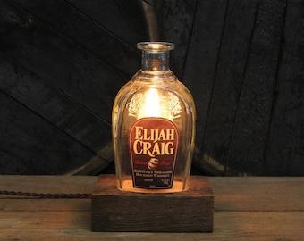 Elijah Craig Bourbon Bottle Lamp, Whiskey Gift, Whiskey Bottle Light, Bar Lamp, Bourbon Gifts, Gift For Husband, Guy Gift Gift For Boyfriend