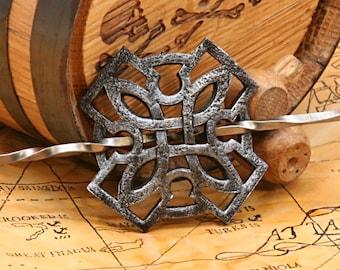 Leather Celtic / Oriental Mini Barrette