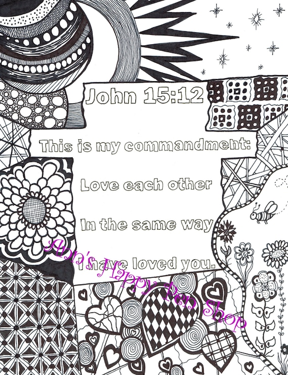 bible memory verse coloring pages - photo#22