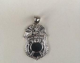 Fireman badge pendant