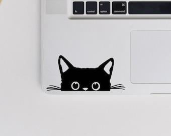 2 x Peeking Cat Vinyl Decal - Cat Sticker - Kitten Decal - Laptop Vinyl Transfer - Bumper Sticker - Macbook Sticker - Cat Decals - Cat Lover
