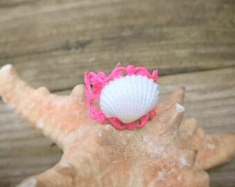 Adjustable Seashell Ring