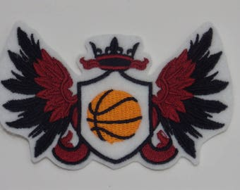 Sport Iron-On Patch. Embroidered Patch. Sew-on Patch. Glue-on Patch. Basketball Patch
