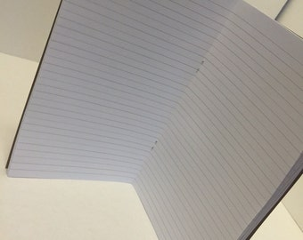 PRINTED Wide Lined Traveler's Notebook Insert! ALL Sizes including Personal, B6 AND A6! Pick Your cover Color!