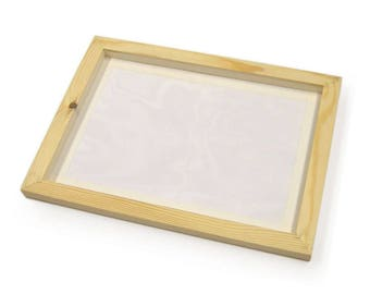 A4 Screen Printing Wooden Frame with Mesh Screen for Print Making