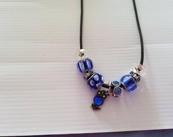 blue owl charm necklace