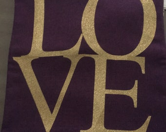 Love pillow case cover