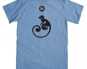 Monkey T-shirt - Grey Blue - Year of the Monkey T-shirt