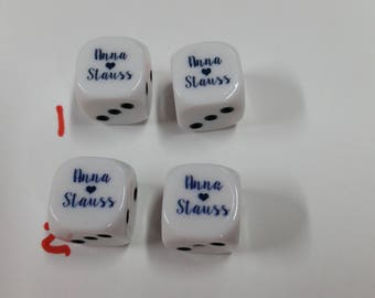 100 Custom 6 Sided Dice Your Logo or Picture