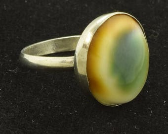 Antique Vintage Operculum Ring ~ Lot 1665