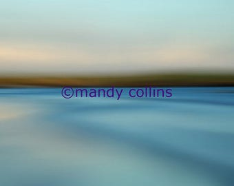 Fine Art Photography by Mandy Collins - 'Horizon 3' is an abstract artwork of a beautiful seascape at Rhosneigr, Anglesey, North Wales