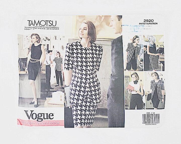 años 90 traje patrón Chaqueta de diseñador Tamotsu Vogue