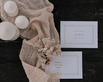 BEIGE cotton gauze napkins