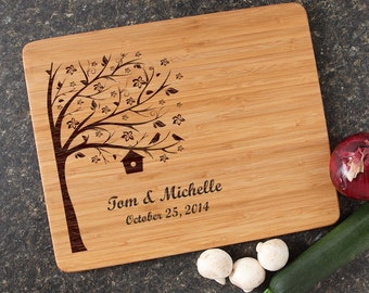 Engraved Cutting Board, Personalized Cutting Board, Personalized Wedding Gift, Custom Bamboo Cutting Boards, Housewarming Gift-15 x 12 D27