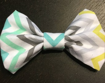Pastel Chevron Bow