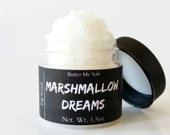 Marshmallow Dreams Lip Scrub, Cosmetic Exfoliant, Sugar Scrub, Moisturizing Exfoliant, Gifts For Her, Lip Treatment, Lip Plumper
