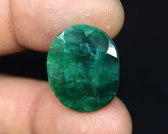 23.05 Cts. Beautiful  African  Emerald Oval  Cut Loose Gemstone